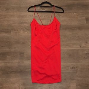 Motel Red Slip Dress